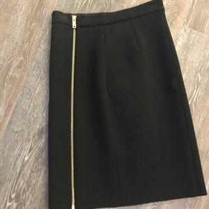 Black Reiss skirt with zipper detail